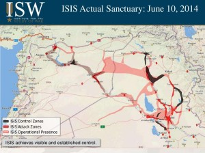 This is the first way that people are mapping the land control of ISIS. More of roads of control instead of actual land that they have full contol over.
