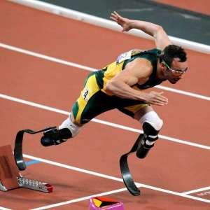 Oscar Pistorius running at a track meet