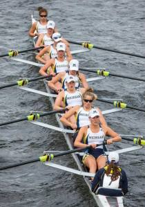 Michigan Women racing at the Charles.