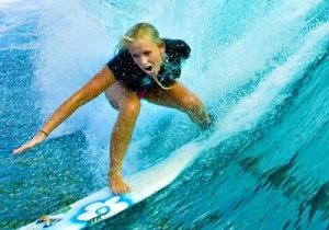 Bethany Hamilton surfing