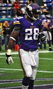 Adrian Peterson during a Viking's Home Game