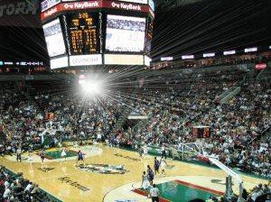 A WNBA game at KeyArena in Seattle