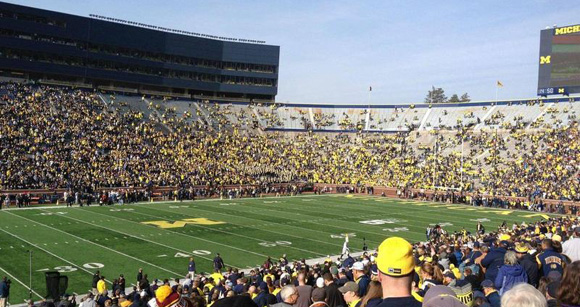 The Empty Student Section at Michigan Stadium