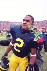 Charles Woodson after they beat Ohio State to go to the Rose Bowl