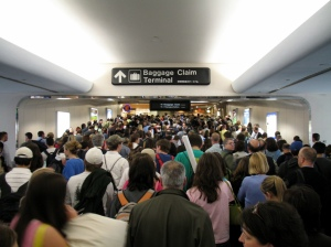Crowded Airport During Holiday Travel