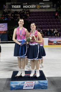 Standing on the podium at the 2014 U.S. Synchronized Skating National Championships. (A dream come true) Source: my photo