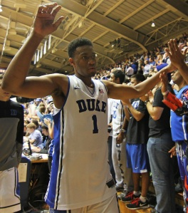 Jabari Parker only played one year at Duke before going to the NBA.