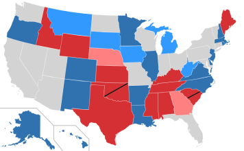The 2014 midterm election Senate results.
