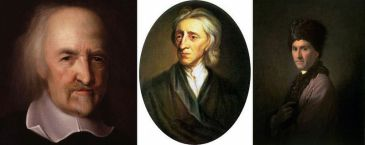 Thomas Hobbes, John Locke, and Jean-Jaques Rousseau