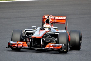 Here is Jenson Button's F1 car with the old front wing. (Noncommerical reuse by Google Images)
