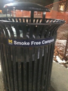 """The University of Michigan is a """"Smoke Free Campus"""""""