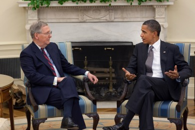 President Obama and Senate leader Mitch McConnell