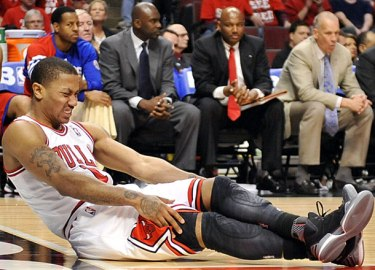 Rose after he tore his ACL