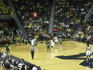 Michigan playing Wayne State on November 10, 2014